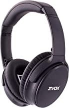 ZVOX AccuVoice AV50 Bluetooth Noise Cancelling Headphones with AccuVoice Dialogue Boost Technology- Black