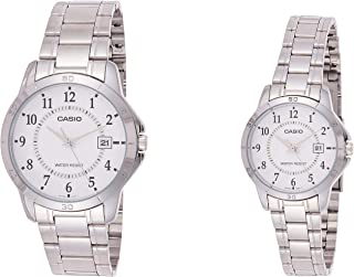 Casio His and Her Couple Analog, Dress Watch - MTP/LTP-V004D-7B
