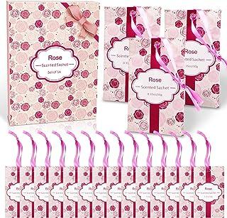 LA BELLEFÉE Scented Sachet,14-Packs Rose Fragrance Packets Perfume Envelopes Sachets, Idea Home, Wardrobe, Drawer, Car, Cl...