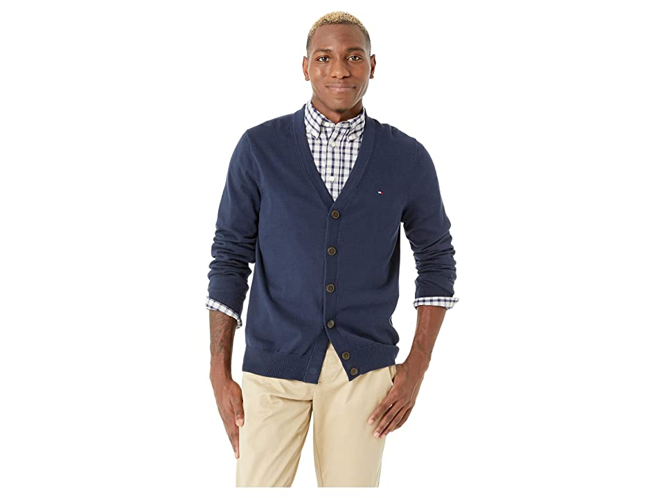 Tommy Hilfiger Adaptive Cardigan Sweater with Magnetic Buttons (Navy Blazer) Men