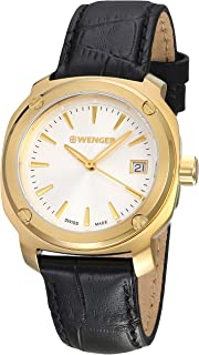 Wenger Edge Index Silver Dial Leather Strap Ladies Watch 01.1121.104