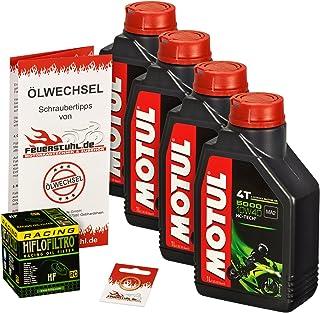 Motul 10W 40 Öl + HiFlo Ölfilter für Honda CBR 900 RR Fireblade, 00 03, SC44 SC50   Ölwechselset inkl. Motoröl, Racing Filter, Dichtring