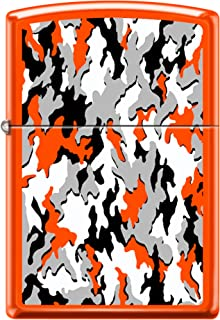 Zippo Custom Design Lighter Neon Orange Camouflage Windproof Collectible Lighter. Made in USA Limited Edition & Rare