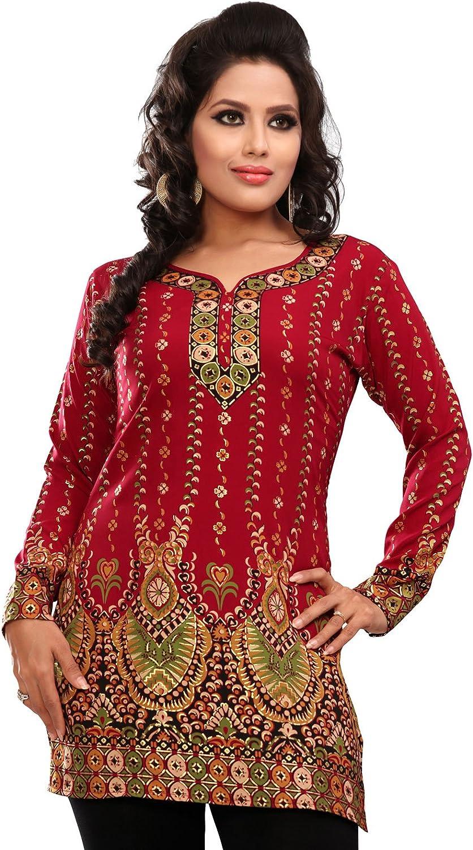 Indische Frauen Kurti Tunika Top Bluse Bedruckte Indien Kleidung