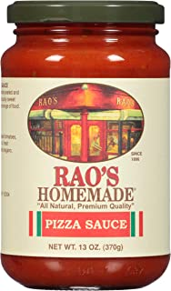 Rao's Homemade Pizza Sauce, 13 Oz Jar, Pack of 3, Classic Italian Pizza Sauce, Great for Dipping Crusts, Made With Sweet Italian Cherry Tomatoes, No Sugar Added
