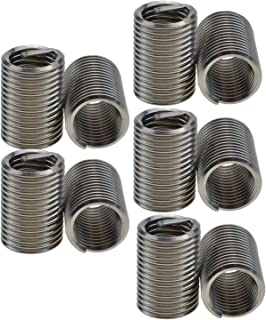 XunLiu 304 Stainless Steel Wire Thread Insert HeliCoil Stripped Thread Rethread Repair (10, M12-1.75X2.5D)