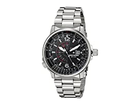 BJ7000-52E Eco-Drive Nighthawk Stainless Steel Watch