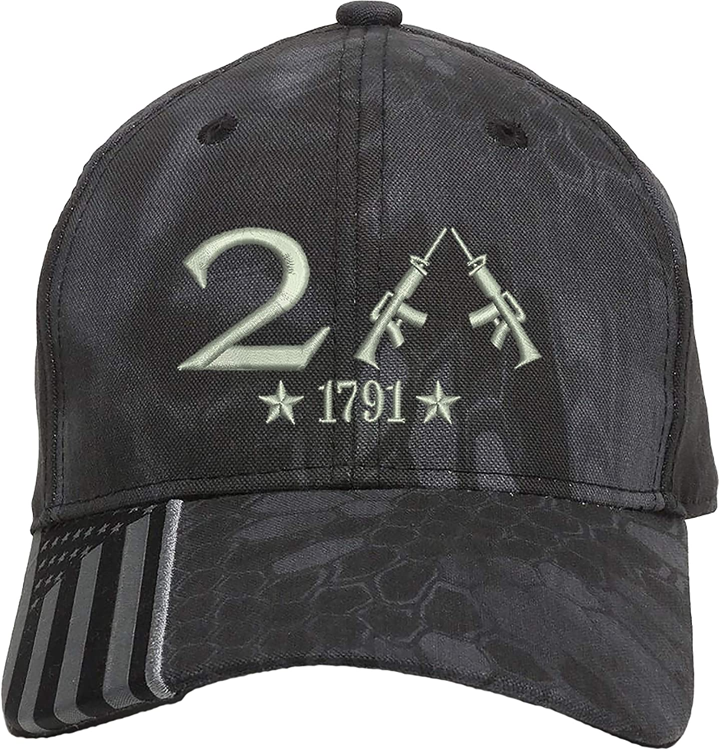 AmazingShirts Only 2nd Amendment 1791 AR15 Guns Right Freedom Embroidered One Size Fits All Structured Hats