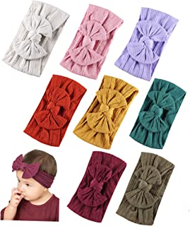 Baby Nylon Headbands Hairbands Hair Bow Elastics for Baby Girls Newborn Infant Toddlers Kids (Super soft-C)