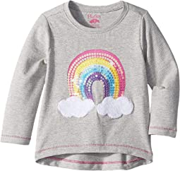 Retro Rainbow Long Sleeve Tee (Toddler/Little Kids/Big Kids)
