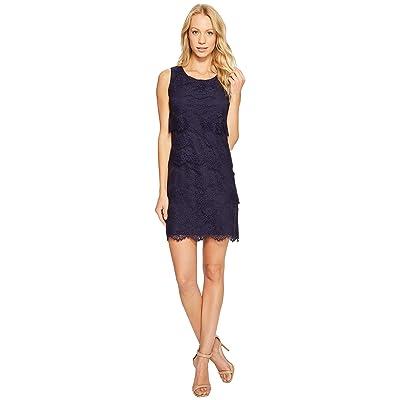 Jessica Simpson Tiered Lace Dress JS4R4533 (Navy) Women