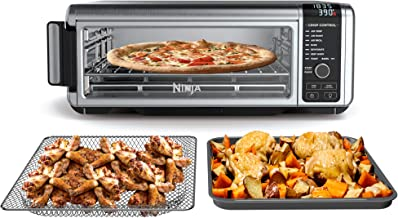"Ninja Foodi Digital, Toaster, Air Fryer, with Flip-Away for Storage Multi-Purpose Counter-top Convection Oven (SP101), 19.7"" W x 7.5""H x 15.1""D, Stainless Steel/Black"
