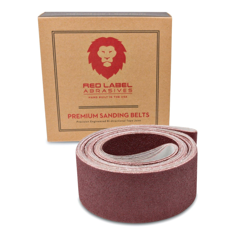 Red Label Abrasives 2 X 72 Inch 24 Grit Metal Grinding Zirconia Sanding Belts 6 Pack