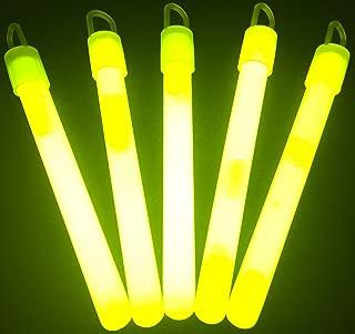 "Glow Sticks Bulk Wholesale, 50 4"" Yellow Glow Stick Light Sticks. Bright Color, Kids Love Them! Glow 8-12 Hrs, 2-Year Shelf Life, Sturdy Packaging, GlowWithUs Brand"