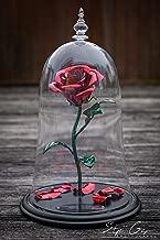 Handmade Enchanted Aluminum Metal Rose - Beauty and the Beast replica plus custom engraving