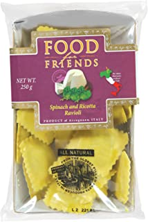 Food for Friends Ricotta and Spinach Ravioli Pasta - Chilled, 250g