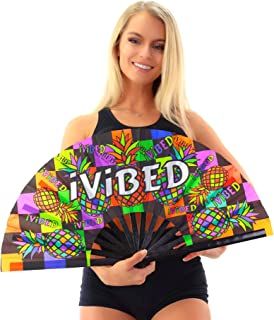 IVIBED Rave Fans Festival Accessories EDM Pineapple Backpack NEON Glow Black Light