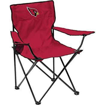 Carrot One Size Logo Brands NFL Denver Broncos  Folding Elite Chair with Mesh Back and Carry Bag