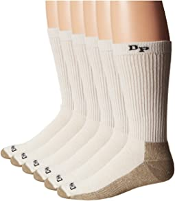 Dan Post Work & Outdoor Socks Mid Calf Mediumweight Steel Toe 6 pack