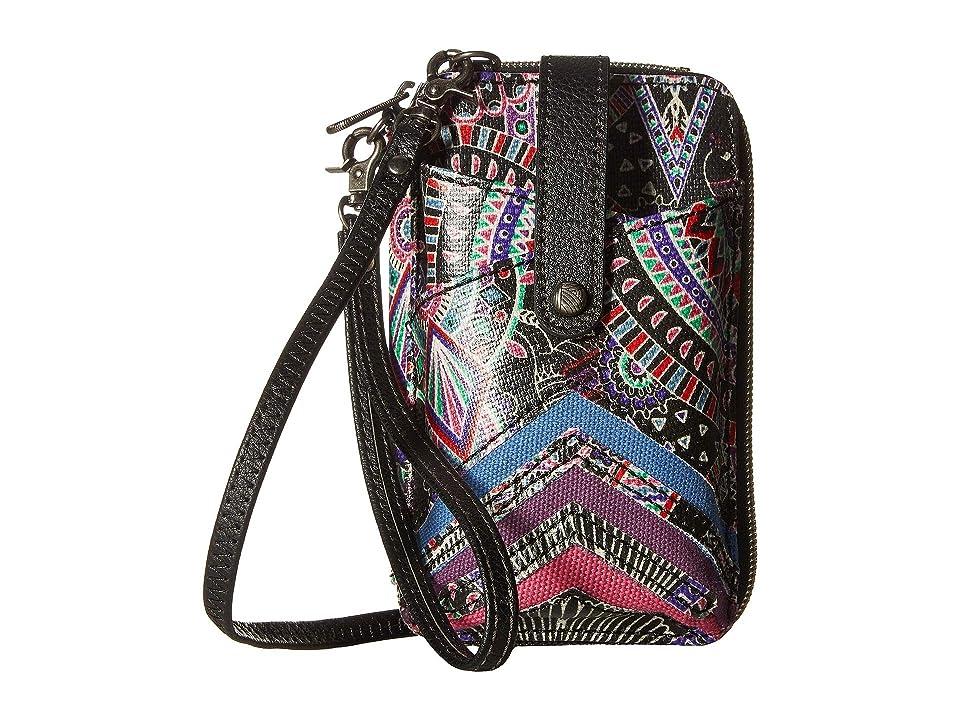 Sakroots Artist Circle Smartphone Wristlet (Onyx Wanderlust) Wristlet Handbags