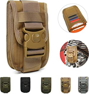 TotaPack Utility Belt Pouch Tactical Molle Phone Pouch EDC Compact Waist Pack Cell Phone Holster Holder with Belt Loop Molle Backpack Attachment Gadget Bag Organizer for Men