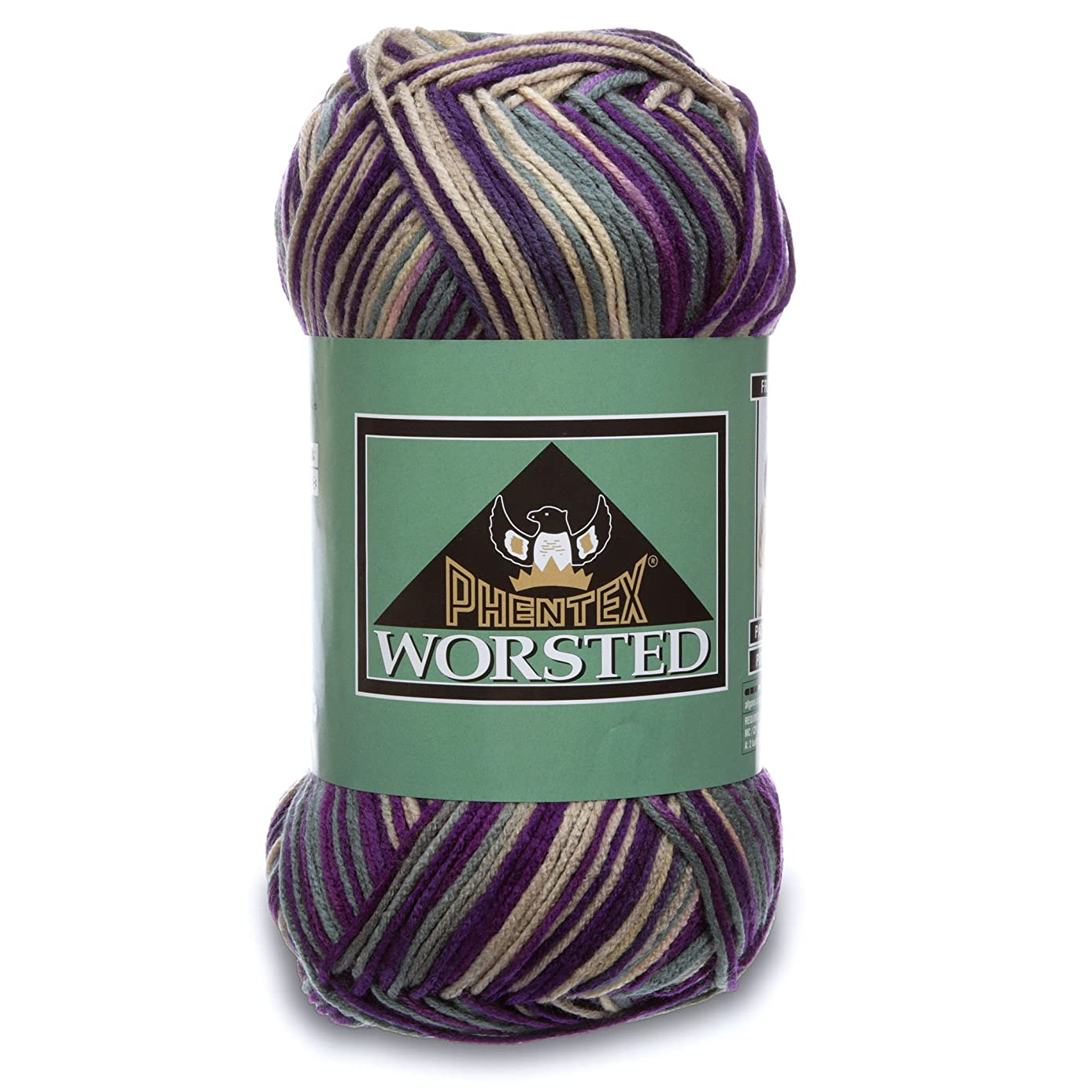 Phentex Worsted Big Ball Yarn, 10.5 Ounce, Ombre Intrigue, Single Ball