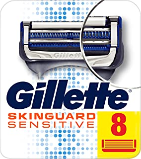 Gillette Skinguard Sensitive Razor Blades For Men, 8 Refills