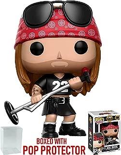 Funko Pop! Rocks: Guns N' Roses - Axl Rose Vinyl Figure (Bundled with Pop Box Protector Case)