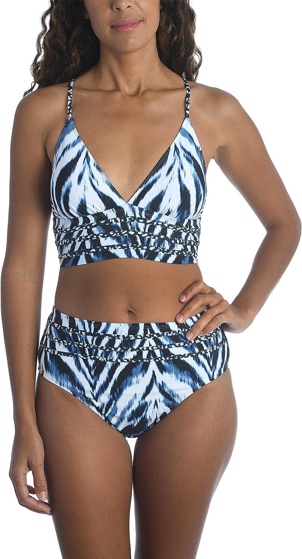La Blanca Women's Standard Keyhole Twist Bralette Bikini Swimsuit Top