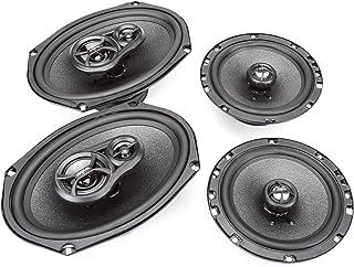 "Skar Audio 6""x9"" 300W 3 Way Coaxial and 6.5"" 200W Car Audio Speakers System - 4 Speakers"