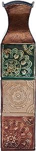 Elements Suzani Decorative Metal Vase, 20-Inch