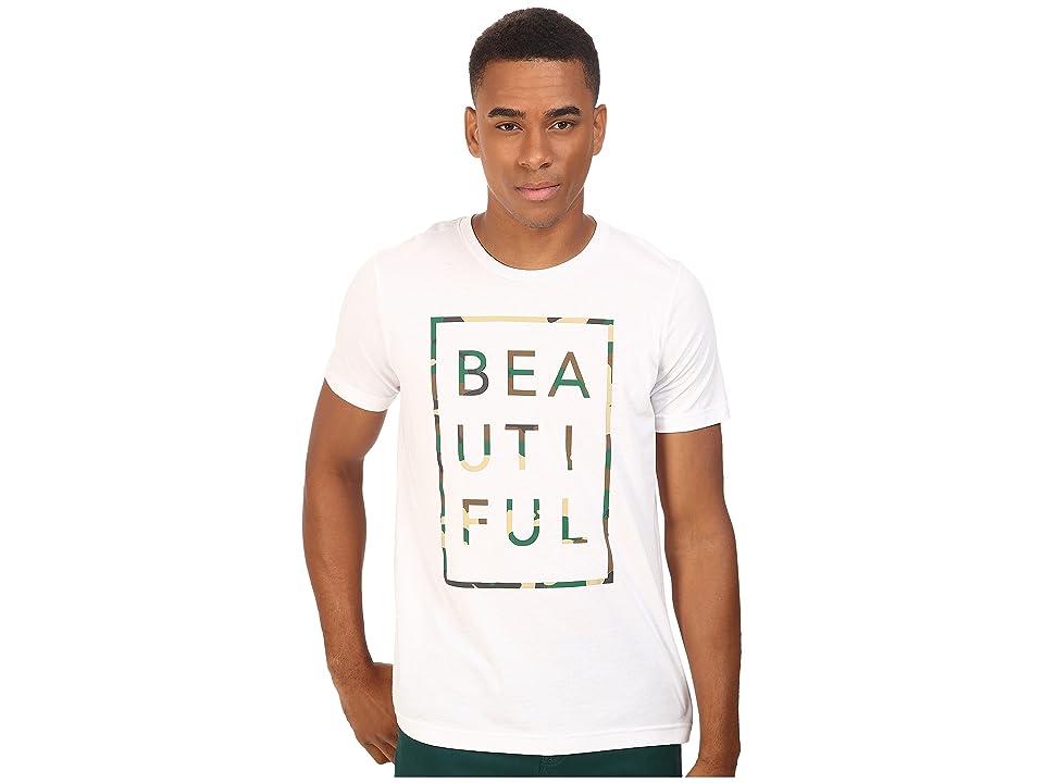 Life is Beautiful Beautiful Box Crew Neck Tee (White/Camo) T Shirt