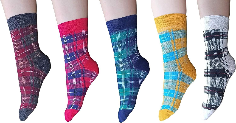 AM Landen Women Ankle Striped Cotton Socks Super Cute Socks Low Cut Crew Socks