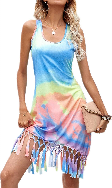 JSQTYSL Women's Summer Beach Dress Bikini Cover Up Casual Vacation Short Dresses Club Party Cockail Bodycon Mini Dress