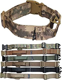 FDC Heavy Duty Tactical Military Army Dog Collars Handle Width 1.5in Plastic Buckle Medium Large M, L, XL, XXL