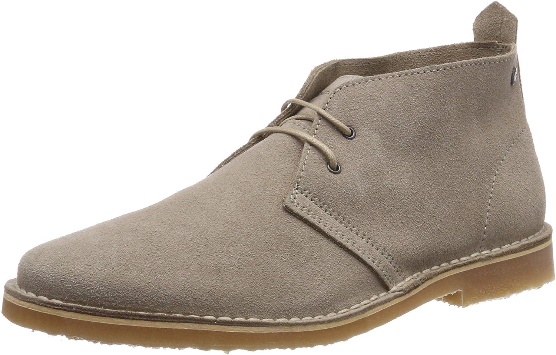 Jack and Jones Mens Gobi Suede Sand Beige Desert Ankle Boots Size