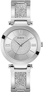 Guess Watches Ladies Aurora Montre Femme Analogique Quartz avec Bracelet Acier Inoxydable W1288L1