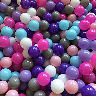 Playz Princess Edition Soft Plastic 200 Mini Play Balls - Small, No Sharp Edges, Non Toxic, Phthalate & BPA Free - Use in Baby or Toddler Ball Pit, Play Tents & Tunnels for Indoor & Outdoor