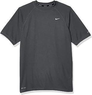 Nike Men`s UPF 40+ Short Sleeve Rashguard Swim Tee