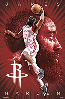 Trends International NBA Houston Rockets - James Harden Wall Poster, 22.375