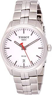 Tissot Men's Quartz Watch with Stainless-Steel Strap, Silver, 18 (Model: T1014101103101)