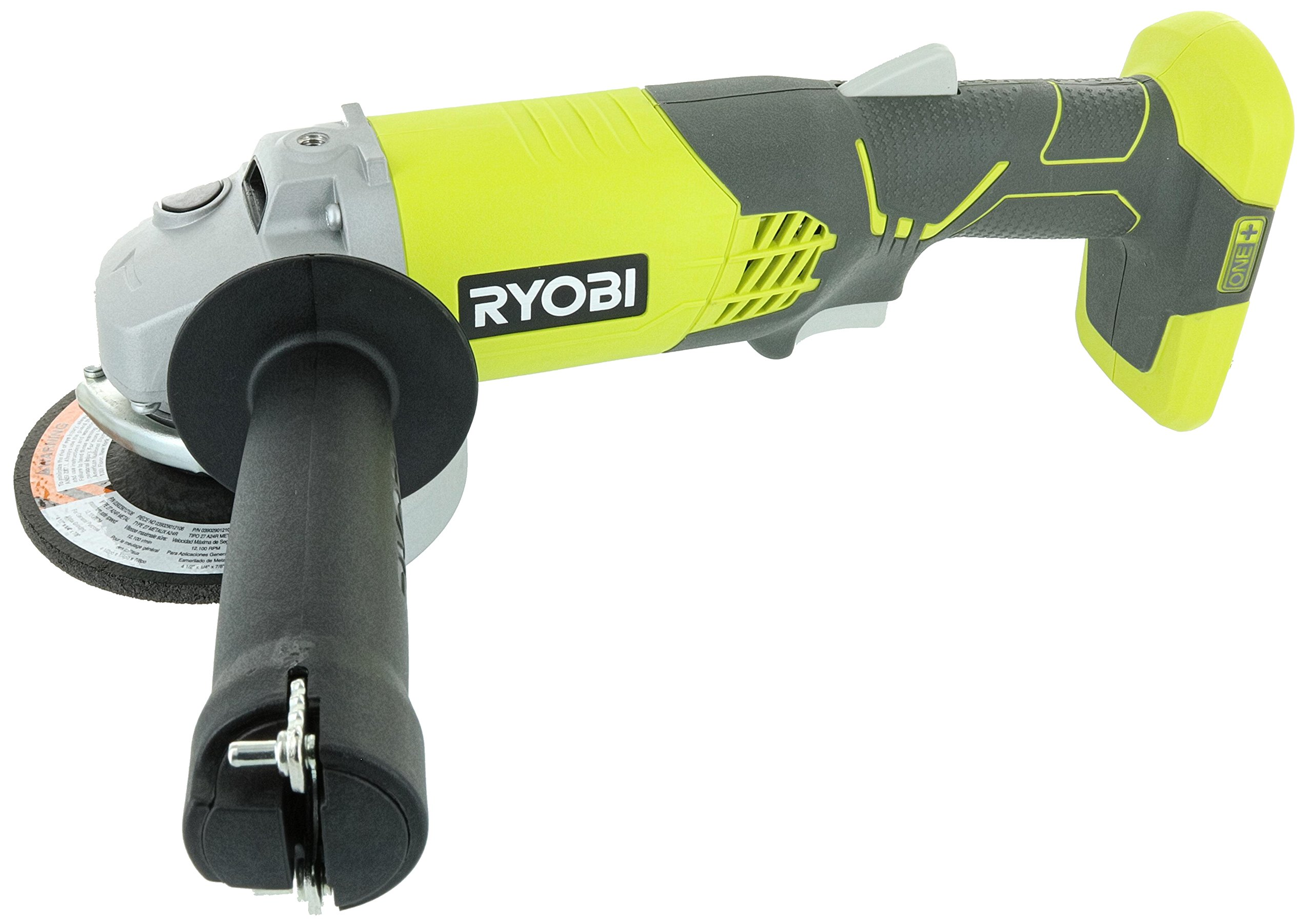 Ryobi P421 6500 RPM 4 1/2 Inch 18-Volt One+ Lithium Ion-Powered Angle Grinder