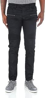 Men's Slim Fit Raw Denim Biker Jean