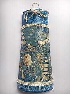 Teja decorativa con motivos de mar