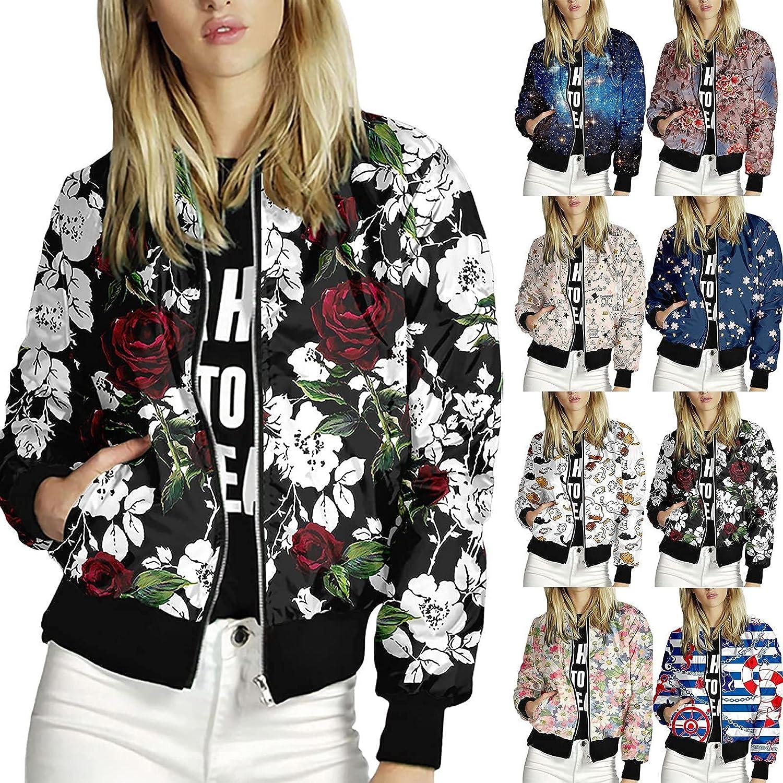 Sacramento Mall Womens Award Jackets Lightweight Zip Up Inspired Jacket Bomber Casual