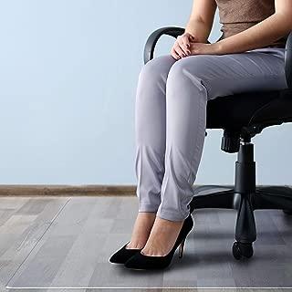Floortex Cleartex MegaMat Heavy-Duty Polycarbonate Chair Mat for Hard Floors and Carpets, 46