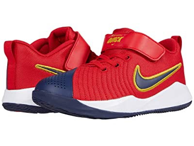 Nike Kids Team Hustle Quick 2 (Little Kid) (University Red/Midnight Navy) Kids Shoes