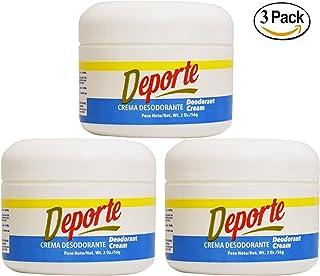 Deporte Crema Desodorante 2oz 3 Piezas