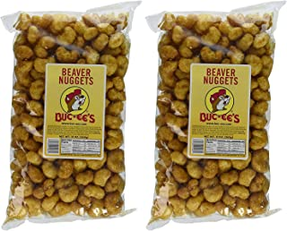 Buc-ee's Famous Beaver Nuggets Sweet Corn Puff Snacks, 13 Ounces (Pack of Two 13 Ounce Bags - 26 Ounces Total))