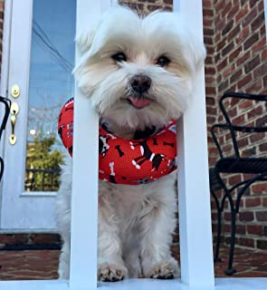 Puppy Bumpers Red Dog - Made in USA 100% Cotton Stuffed Safety Fence Collar to Keep Your pet Safely on The Right Side of The Fence.